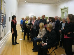 art class, southport and liverpool merseyside on a visit to the walker art gallery